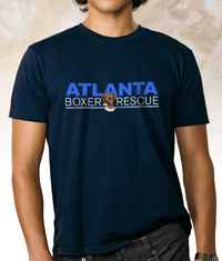 Atlanta Boxer Rescue Navy Blue Shirt
